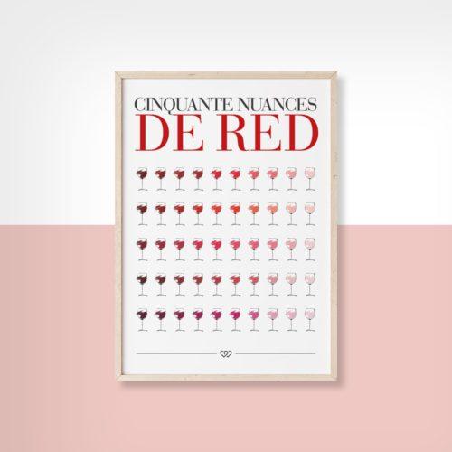 Affiche Cinquante nuances de red 2 We Love Bourgogne