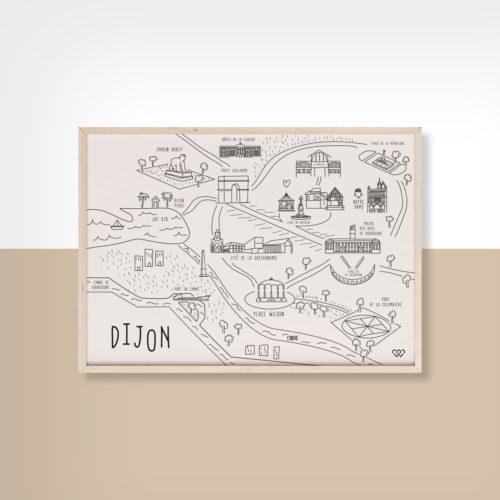 Affiche Dijon 2 We Love Bourgogne