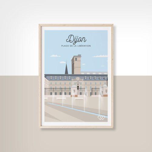 Affiche Dijon place de la libération 2 We Love Bourgogne